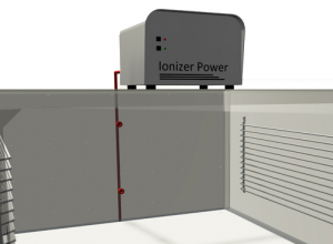 Desiccator cabinet with Ion Power™ Unit and system ionizing nozzles